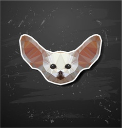 Fennec fox in the style of origami abstract vector