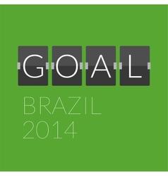 Flat goal football soccer concept letter vector