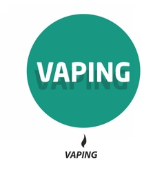 Flat vaping icon circle vector