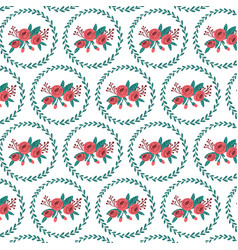 floral bouquet and wreath pattern vector image