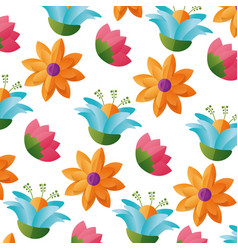 Flowers foliage nature vector