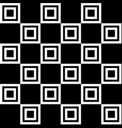 Great contrast black and white squares pattern vector
