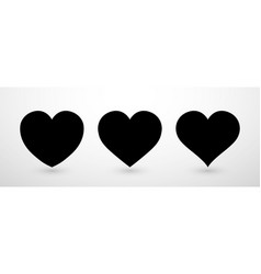 heart collection flat icon set love symbol vector image
