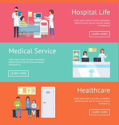 hospital life medical service and healthcare vector image