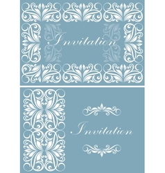 Invitation card vector image