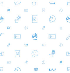 Isolated icons pattern seamless white background vector