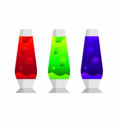 Lava lamp icon vector