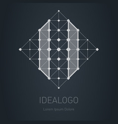 Logo with number 11 low-poly design element or vector