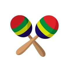Maracas icon cartoon style vector