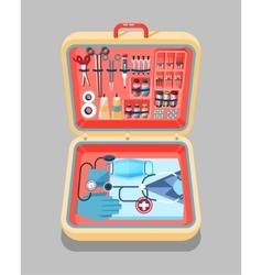 Medical suitcase isometrics vector