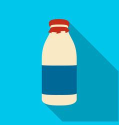 Milk box icon flat single bio eco organic vector