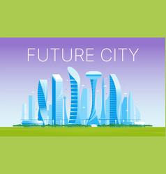 modern futuristic cityscape 02 vector image