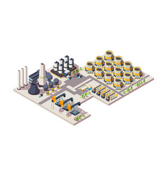 oil factory gas industrial building tanks vector image