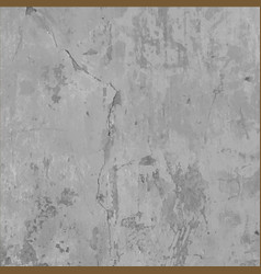 Old grungy cracked concrete wall texture vector