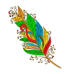 Peerless decorative feather tribal design vector