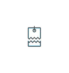 price tag icon line design business icon vector image