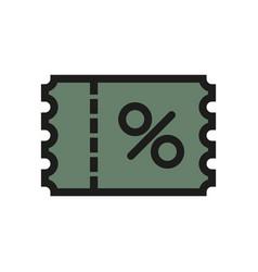 promo code icon simple vector image