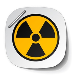 Radiation symbol label vector