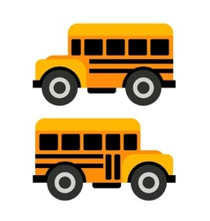 School Bus Icons in Flat Style vector image