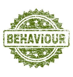 Scratched textured behaviour stamp seal vector