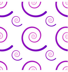 seamless pattern with spirals gradient spirals vector image