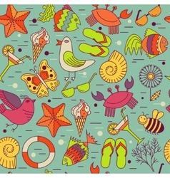 Seamless patterns for the summer theme vector