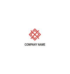 shape square line geometry logo vector image