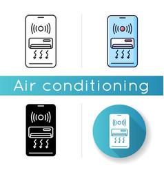 Smart air conditioner icon vector