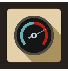 Speedometer for cars icon flat style vector