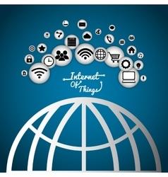 Sphere global internet of things design vector