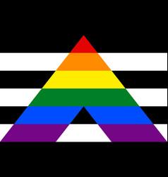 Stright ally pride community flag lgbt symbol vector