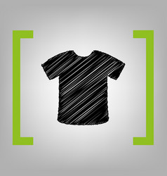 t-shirt sign black scribble icon in vector image vector image