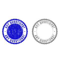 Textured any questions question grunge watermarks vector