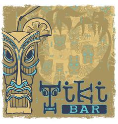 Tiki bar sign vector