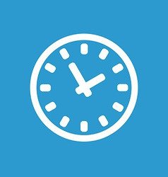 time icon white on the blue background vector image