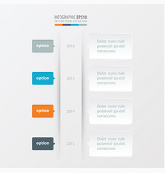 timeline template orange blue gray color vector image