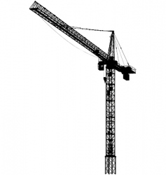 tower crane vector image