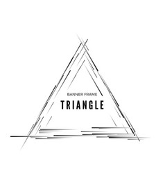 triangular abstract modern banner geometric shape vector image