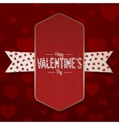 Vertical realistic Valentines Day Emblem vector
