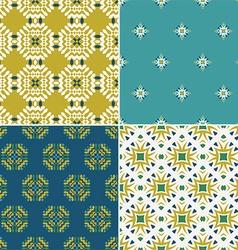 Vintage pattern set vector