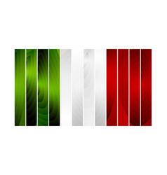 Wooden Italian flag vector image