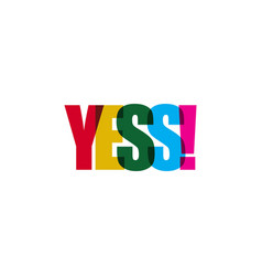 yes template design vector image