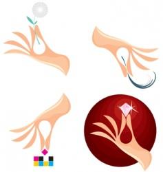 creative hands vector image vector image