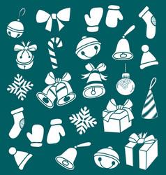 dooddle christmas elements vector image