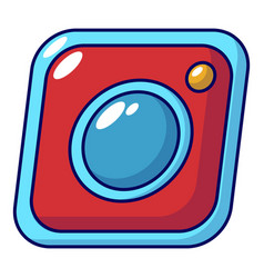 photo icon cartoon style vector image