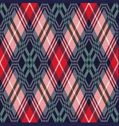 rhombus tartan seamless texture in various colors vector image