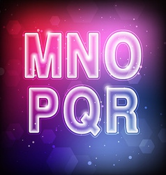 Abstract Font M-R vector image vector image