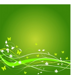 grunge spring background vector image vector image