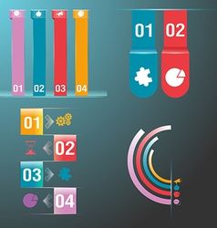 Info graphic set colorful vector image vector image