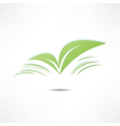 Leaf nature icons vector image